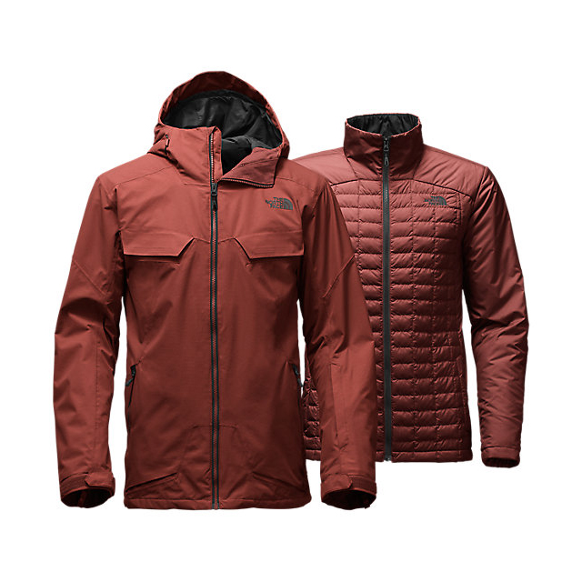 Discount NORTH FACE MEN\'S INITIATOR THERMOBALL TRICLIMATE JACKET HOT CHOCOLATE BROWN ONLINE
