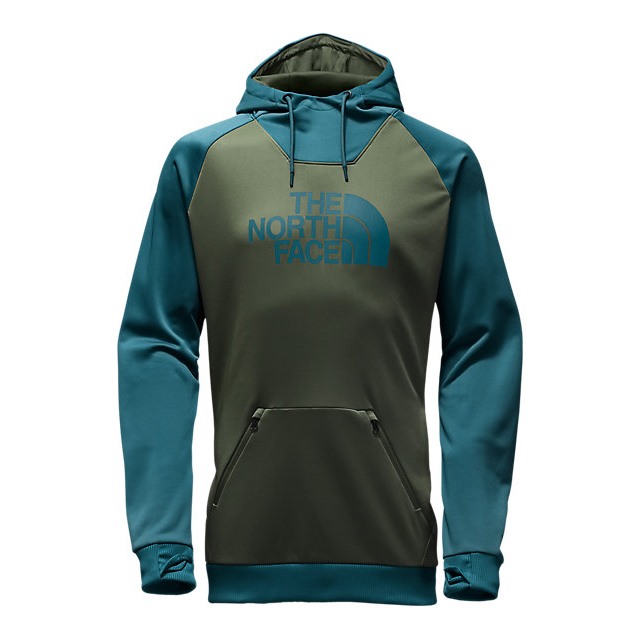 Discount NORTH FACE MEN'S BROLAPSE HOODIE ROSIN GREEN-PRUSSIAN BLUE ONLINE