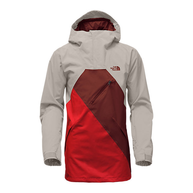 Discount NORTH FACE MEN\'S DUBS JACKET DOVE GREY/FIERY RED/HOT CHOCOLATE BROWN ONLINE