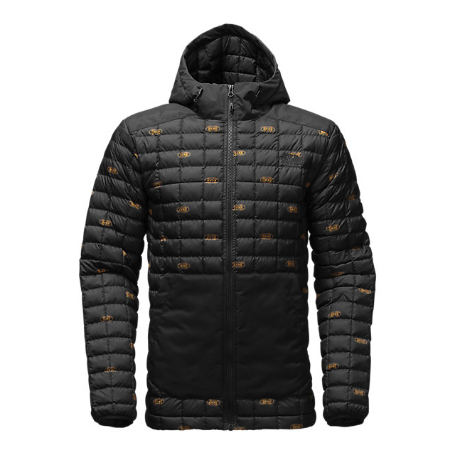 Discount NORTH FACE MEN\'S THERMOBALL  SNOW HOODIE BLACK DOUBLE VISION PRINT ONLINE