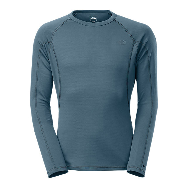Discount NORTH FACE MEN'S WARM LONG-SLEEVE CREW NECK SHADY BLUE ONLINE