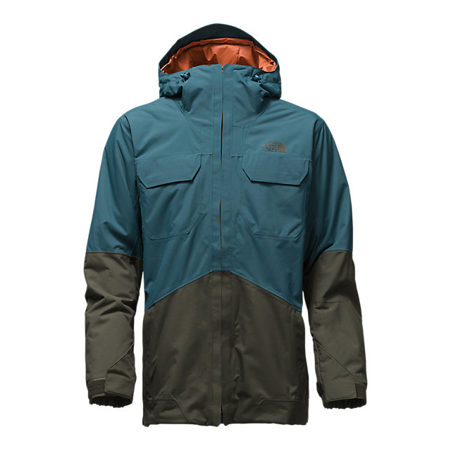 Discount NORTH FACE MEN'S BROGODA INSULATED JACKET PRUSSIAN BLUE/ROSIN GREEN ONLINE