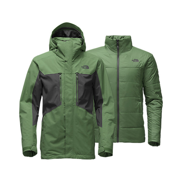 Discount NORTH FACE MEN'S CLEMENT TRICLIMATE JACKET VISTA GREEN/ASPHALT GREY ONLINE