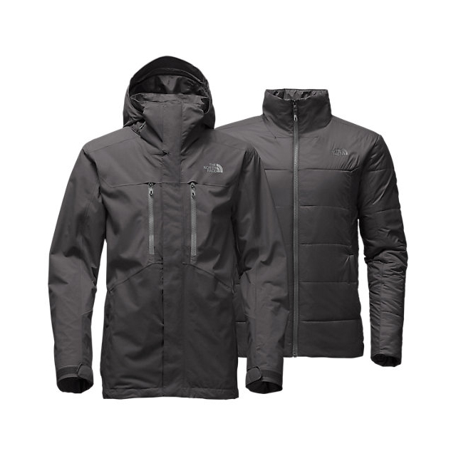 Discount NORTH FACE MEN'S CLEMENT TRICLIMATE JACKET ASPHALT GREY ONLINE