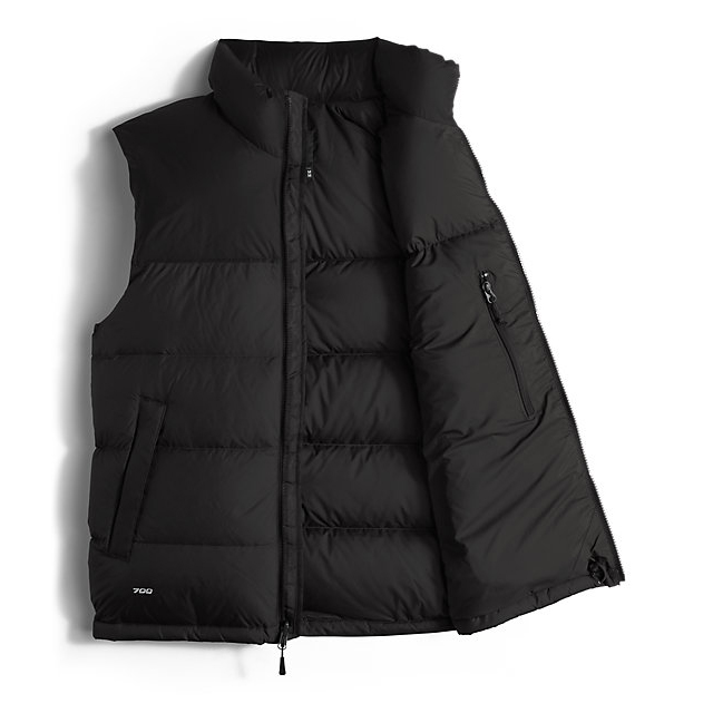 Discount NORTH FACE MEN\'S NUPTSE VEST BLACK / BLACK ONLINE