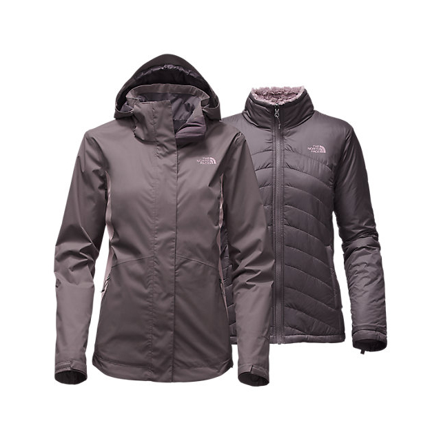 Discount NORTH FACE WOMEN'S MOSSBUD SWIRL TRICLIMATE  JACKET RABBT GREY/QUAIL GREY ONLINE
