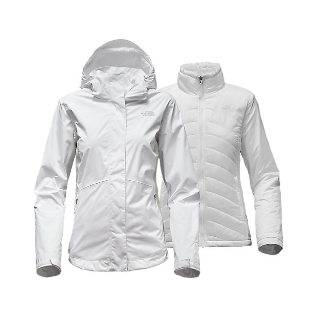 Discount NORTH FACE WOMEN'S MOSSBUD SWIRL TRICLIMATE  JACKET WHITE/LUNAR ICE GREY ONLINE