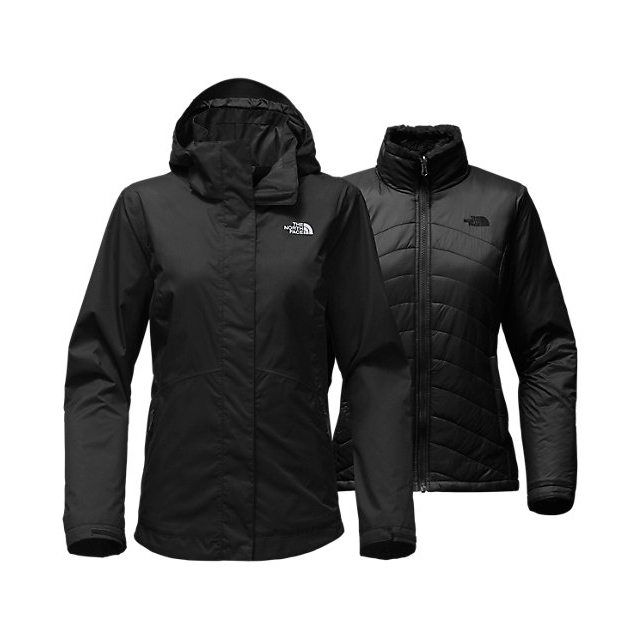 Discount NORTH FACE WOMEN'S MOSSBUD SWIRL TRICLIMATE  JACKET BLACK ONLINE