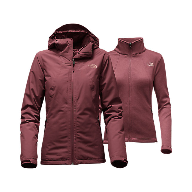 Discount NORTH FACE WOMEN'S HIGHANDDRY TRICLIMATE  JACKET DEEP GARNET RED ONLINE