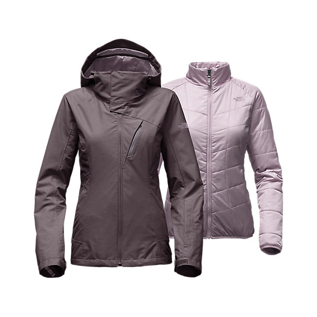 Discount NORTH FACE WOMEN'S CHEAKAMUS TRICLIMATE  JACKET RABBIT GREY ONLINE