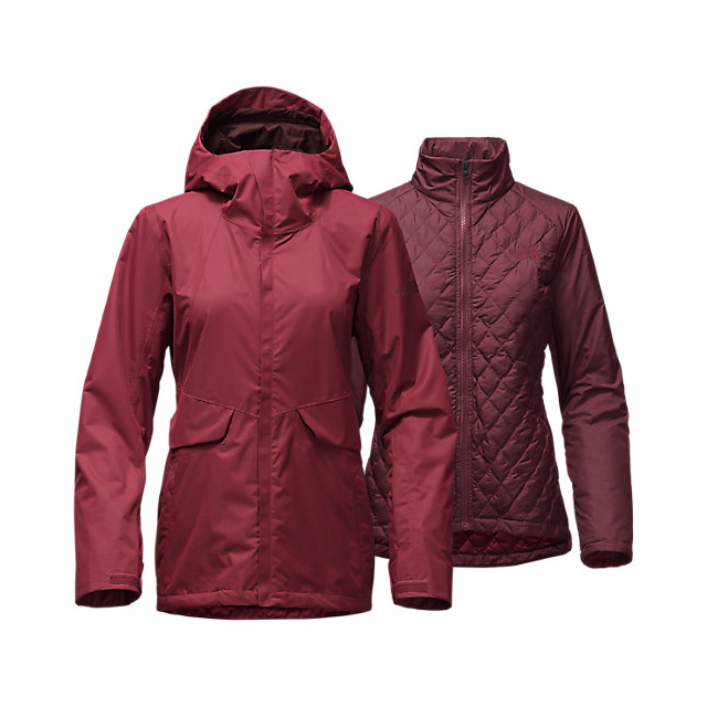 Discount NORTH FACE WOMEN'S INITIATOR THERMOBALL  TRICLIMATE  JACKET BIKING RED ONLINE