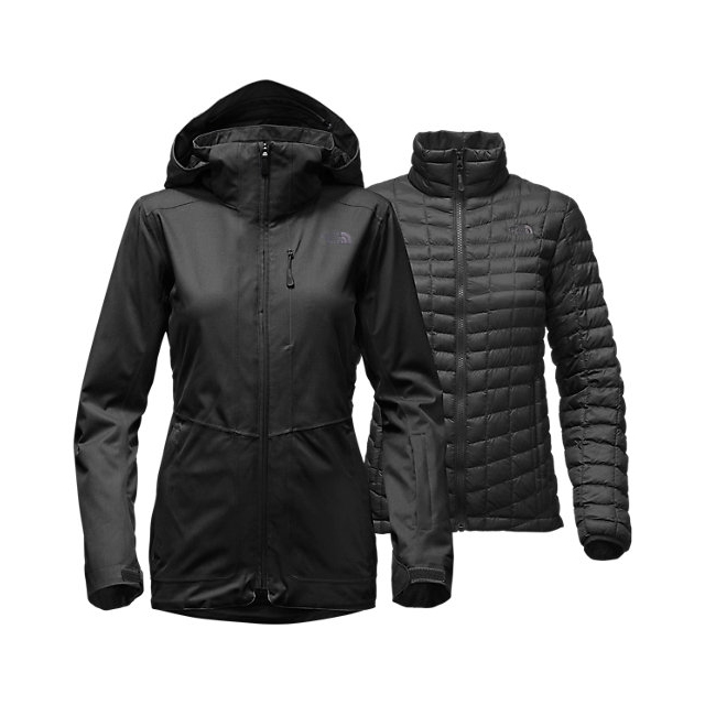 Discount NORTH FACE WOMEN\'S THERMOBALL  SNOW TRICLIMATE  PARKA BLACK ONLINE