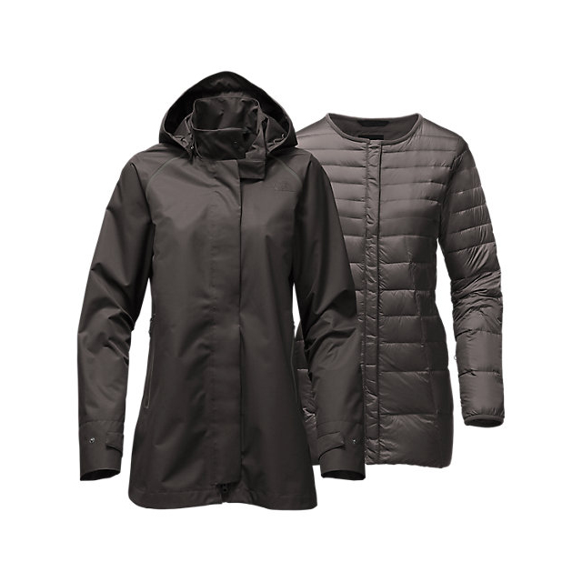 Discount NORTH FACE WOMEN'S MOSSWOOD TRICLIMATE GRAPHITE GREY ONLINE