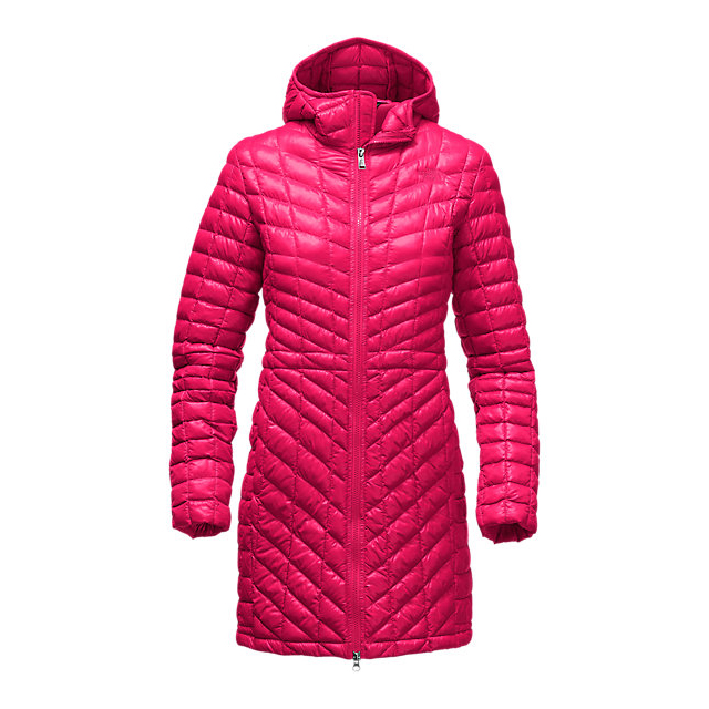 Discount NORTH FACE WOMEN'S THERMOBALL  HOODED PARKA CERISE PINK ONLINE