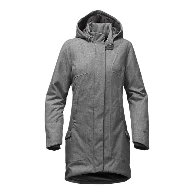 Discount NORTH FACE WOMEN'S TEMESCAL TRENCH MEDIUM GREY HEATHER HERRINGBONE ONLINE