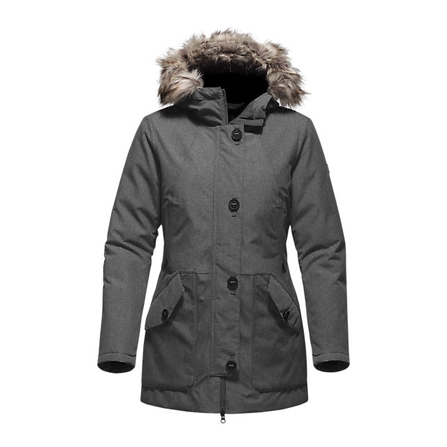 Discount NORTH FACE WOMEN'S MAUNA KEA PARKA MEDIUM GREY HEATHER ONLINE