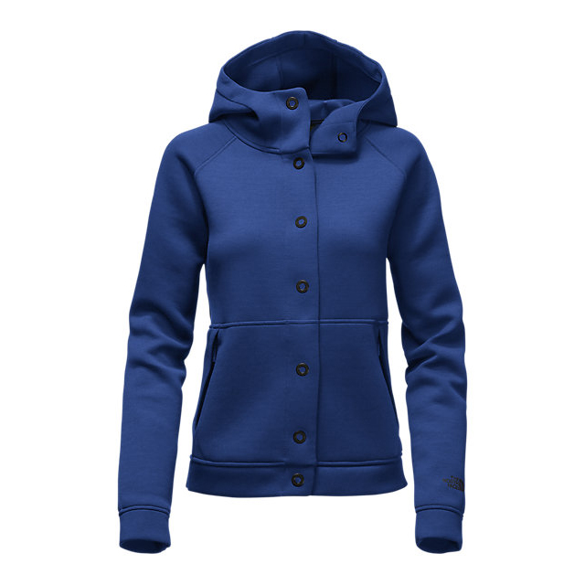 Discount NORTH FACE WOMEN\'S THERMAL 3D SNAP HOODIE BRIGHT COBALT BLUE BLACK HEATHER ONLINE