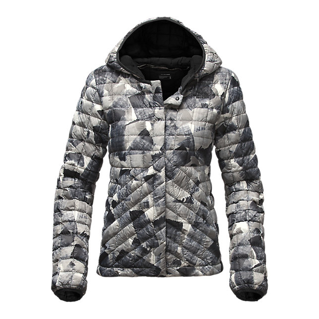 Discount NORTH FACE WOMEN'S THERMOBALL  CARDIGAN BLACK SWASHED PRINT ONLINE