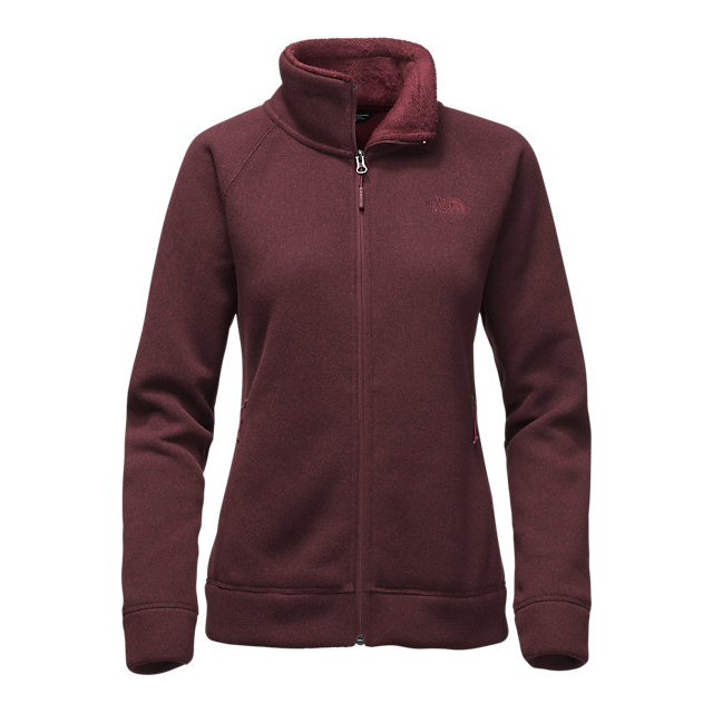 Discount NORTH FACE WOMEN'S CRESCENT RASCHEL FULL ZIP JACKET DEEP GARNET RED HEATHER ONLINE