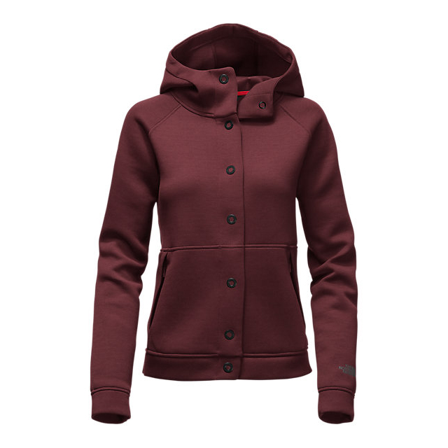 Discount NORTH FACE WOMEN'S THERMAL 3D SNAP HOODIE DEEP GARNET RED BLACK HEATHER ONLINE