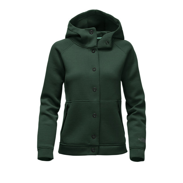 Discount NORTH FACE WOMEN\'S THERMAL 3D SNAP HOODIE SCARAB GREEN BLACK HEATHER ONLINE
