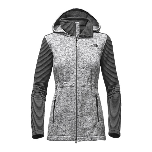 Discount NORTH FACE WOMEN'S INDI INSULATED HOODIE LUNAR ICE GREY HEATHER/ASPHALT GREY ONLINE