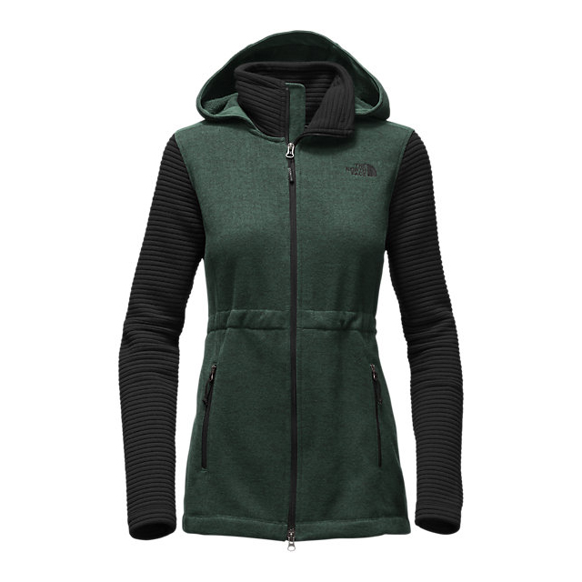 Discount NORTH FACE WOMEN\'S INDI INSULATED HOODIE DARKEST SPRUCE GREEN HEATHER/BLACK ONLINE