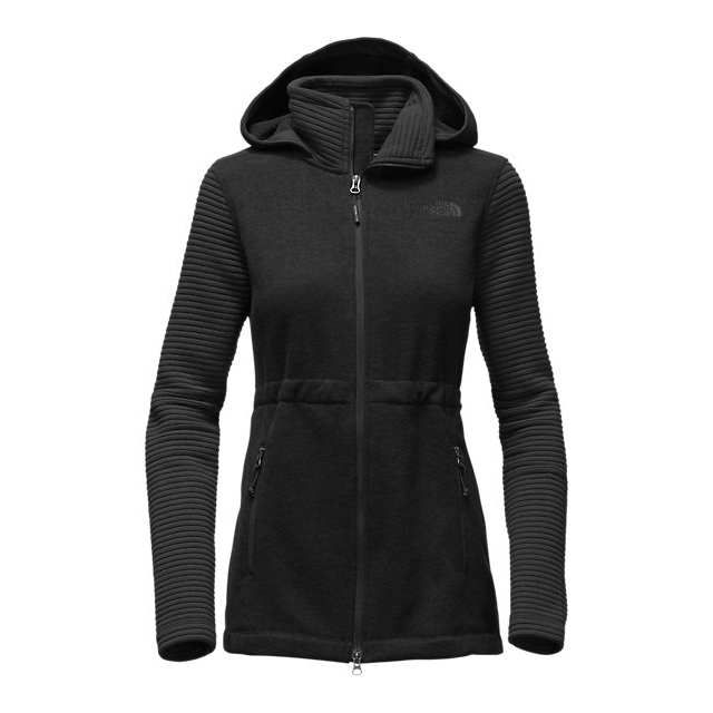 Discount NORTH FACE WOMEN'S INDI INSULATED HOODIE BLACK HEATHER / BLACK ONLINE