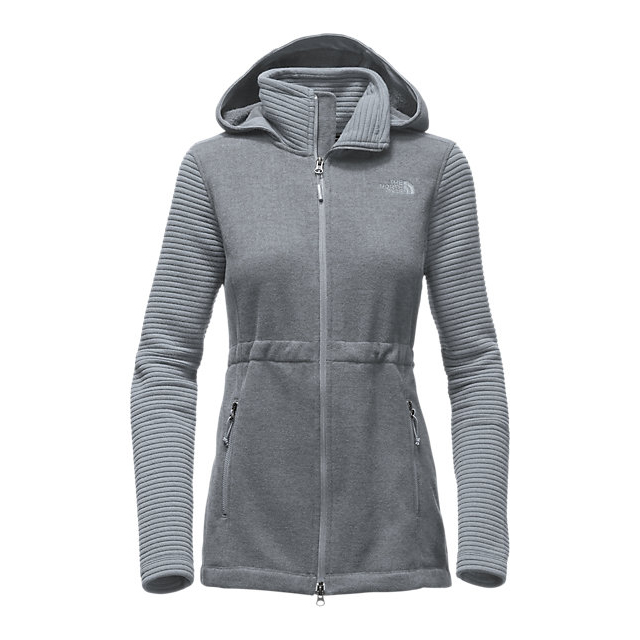 Discount NORTH FACE WOMEN\'S INDI INSULATED HOODIE LIGHT GREY HEATHER/DARK HEATHER ONLINE
