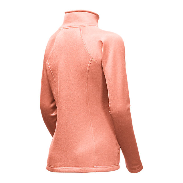 Discount NORTH FACE WOMEN\'S AGAVE FULL ZIP TROPICAL PEACH HEATHER ONLINE