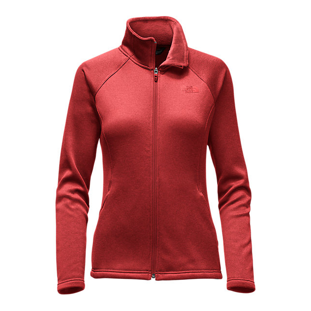Discount NORTH FACE WOMEN\'S AGAVE FULL ZIP HIGH RISK RED HEATHER ONLINE