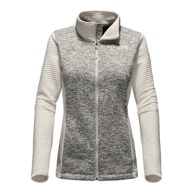 Discount NORTH FACE WOMEN\'S INDI FULL ZIP JACKET VINTAGE WHITE HEATHER/VINTAGE WHITE ONLINE