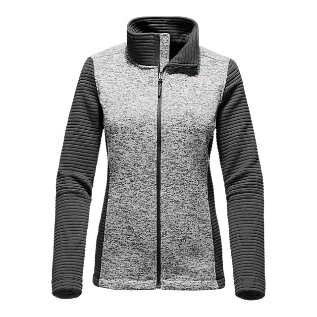 Discount NORTH FACE WOMEN'S INDI FULL ZIP JACKET LUNAR ICE GREY HEATHER/ASPHALT GREY ONLINE