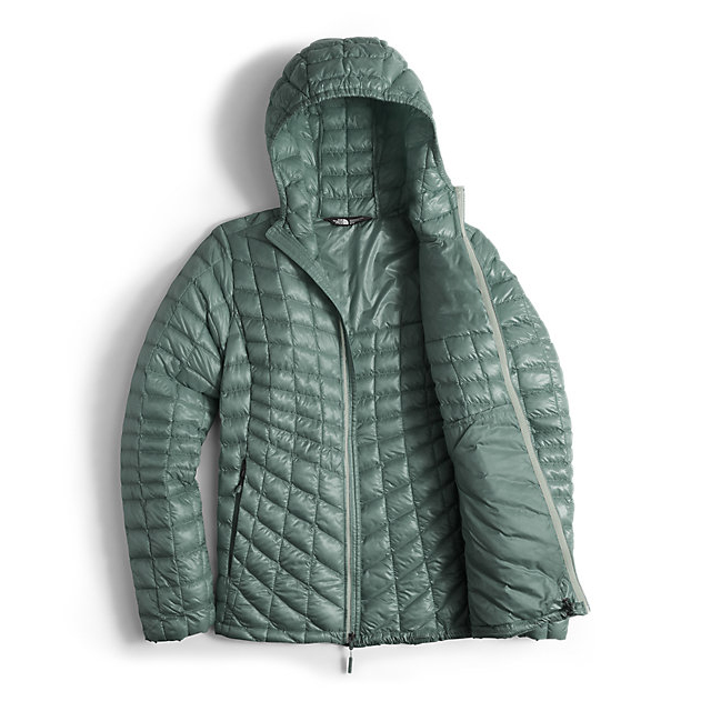 Discount NORTH FACE WOMEN\'S THERMOBALL HOODED JACKET BALSAM GREEN ONLINE