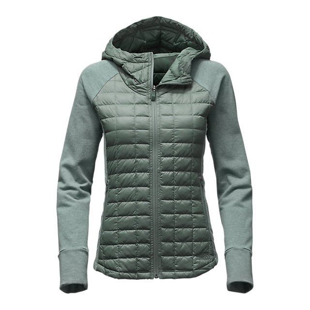 Discount NORTH FACE WOMEN'S ENDEAVOR THERMOBALL  JACKET BALSAM GREEN/BALSAM GREEN LIGHT HEATHER (STD) ONLINE