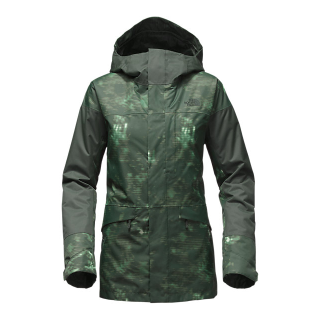 Discount NORTH FACE WOMEN\'S CROSSTOWN JACKET DARKEST SPRUCE JUNGLE CAMO PRINT-DARKEST SPRUCE ONLINE