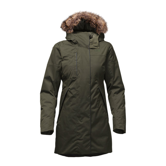 Discount NORTH FACE WOMEN'S FAR NORTHERN WATERPROOF PARKA ROSIN GREEN SLUB ONLINE
