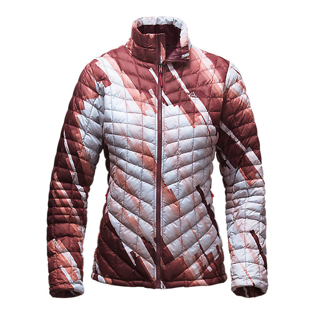 Discount NORTH FACE WOMEN'S THERMOBALL  FULL ZIP JACKET (EXCLUSIVE COLORS) DEEP GARNET RED STRATA PRINT ONLINE