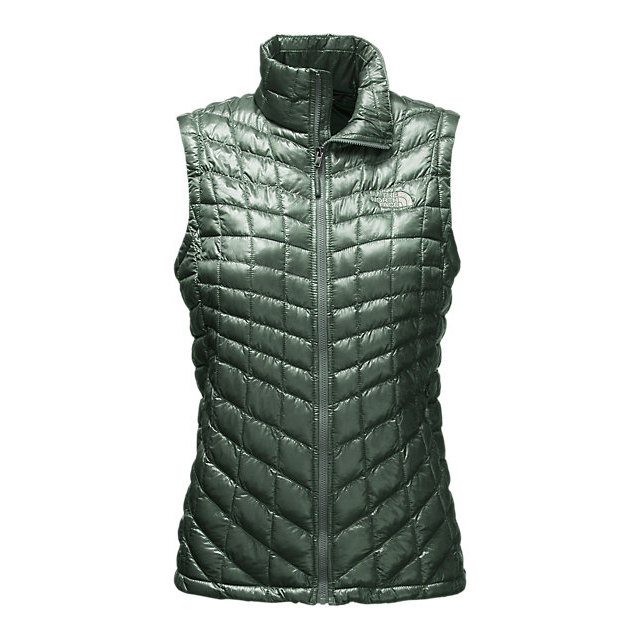 Discount NORTH FACE WOMEN'S THERMOBALL  VEST BALSAM GREEN ONLINE