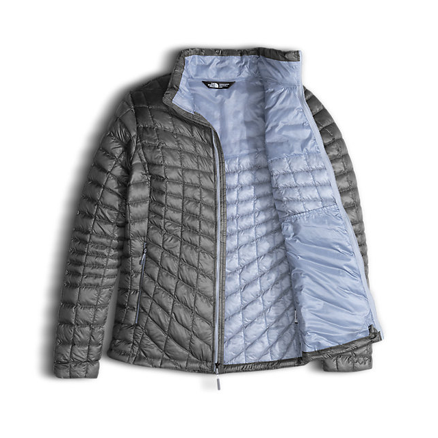Discount NORTH FACE WOMEN\'S THERMOBALL  FULL ZIP JACKET (EXCLUSIVE COLORS) MID GREY/ARCTIC ICE BLUE ONLINE