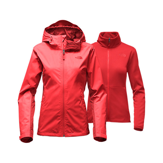 Discount NORTH FACE WOMEN'S ARROWOOD TRICLIMATE  JACKET HIGH RISK RED ONLINE