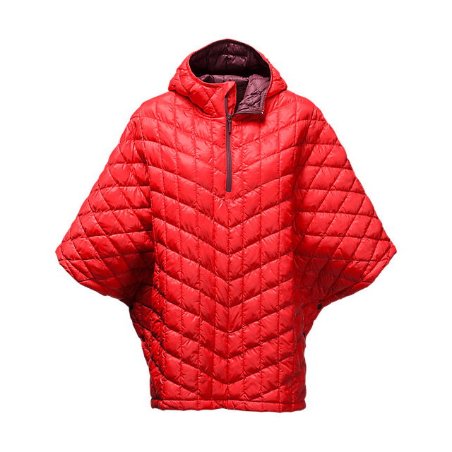 Discount NORTH FACE WOMEN'S THERMOBALL PONCHO HIGH RISK RED ONLINE