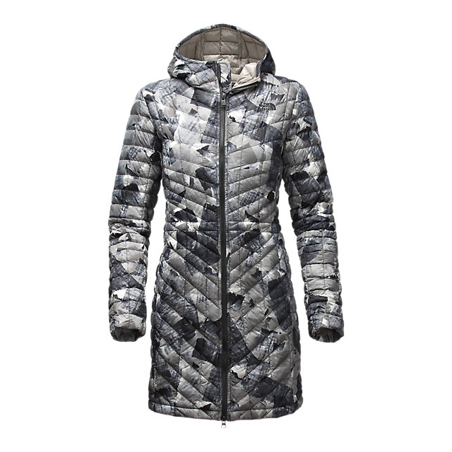 Discount NORTH FACE WOMEN\'S THERMOBALL  HOODED PARKA BLACK SWASHED PRINT ONLINE