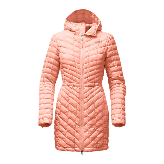 Discount NORTH FACE WOMEN'S THERMOBALL  HOODED PARKA TROPICAL PEACH ONLINE