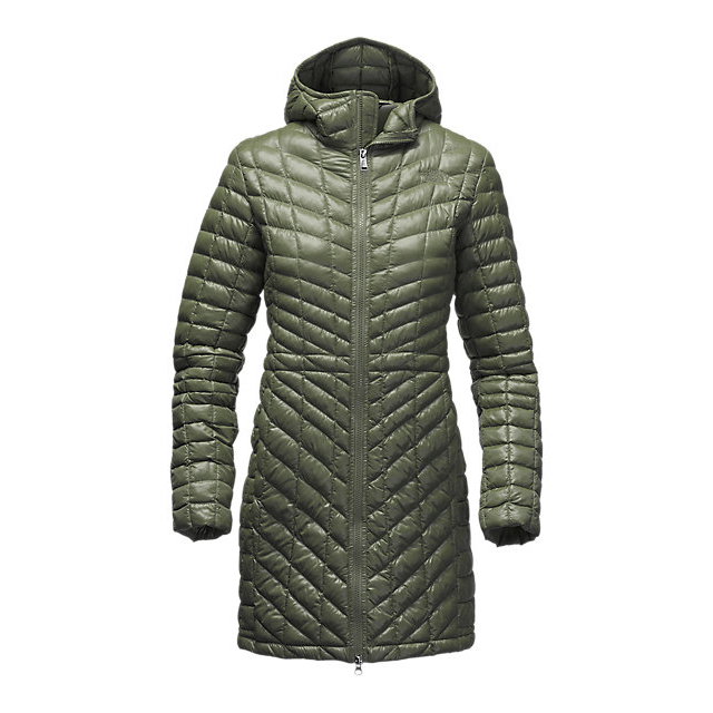 Discount NORTH FACE WOMEN'S THERMOBALL  HOODED PARKA ROSIN GREEN ONLINE
