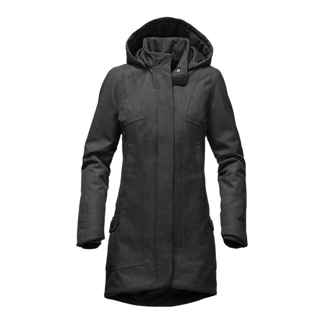 Discount NORTH FACE WOMEN'S TEMESCAL TRENCH DARK GREY HEATHER HERRINGBONE ONLINE