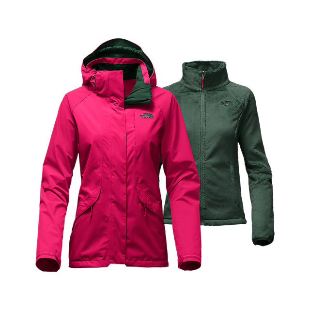 Discount NORTH FACE WOMEN'S BOUNDARY TRICLIMATE JACKET CERISE PINK ONLINE