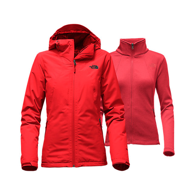 Discount NORTH FACE WOMEN'S HIGHANDDRY TRICLIMATE JACKET HIGH RISK RED ONLINE