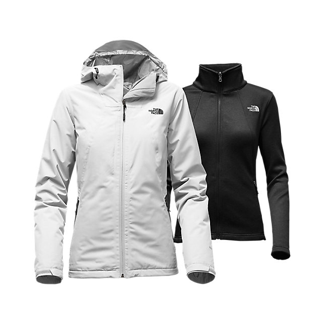 Discount NORTH FACE WOMEN'S HIGHANDDRY TRICLIMATE JACKET LUNAR ICE GREY/BLACK ONLINE