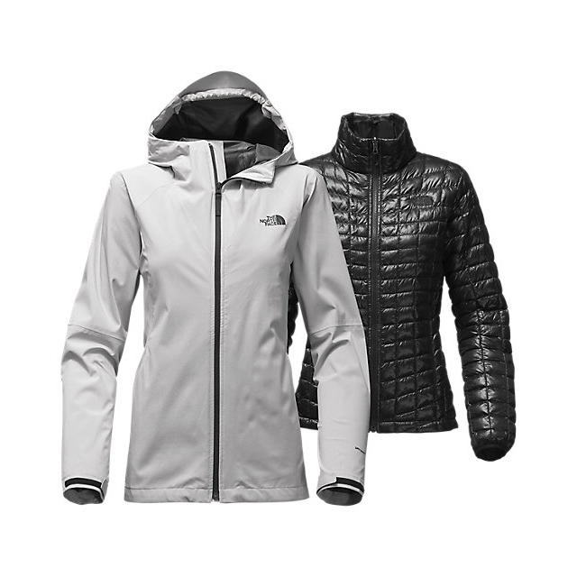 Discount NORTH FACE WOMEN'S THERMOBALL TRICLIMATE JACKET LUNAR ICE GREY HEATHER ONLINE